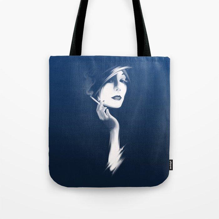 Smoking Hot Woman Tote Bag