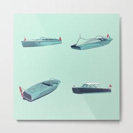 Vintage Wooden Boats - Series - Susanne Johnson Art Metal Print