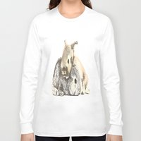 furry Long Sleeve T-shirts featuring FURRY LOVE by Yuuri Cheryl