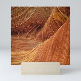 sandstone wave nature Mini Art Print