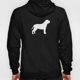 White Mastiff Silhouette Hoody