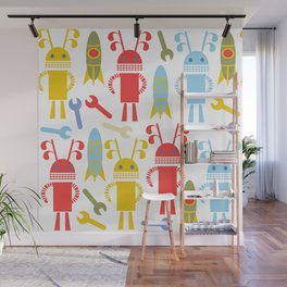 Robots pattern F4 Wall Mural