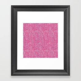 Hand Knit Hot Pink Framed Art Print