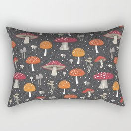 Funghi - Gray Rectangular Pillow