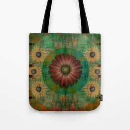 """Daisy Woman (Red Daisy, pattern)"" Tote Bag"
