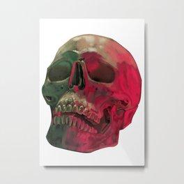 Skull Reflet Metal Print