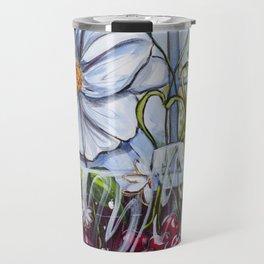 Diane L-  Fleurs en coeurs Travel Mug