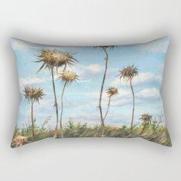Thorn Fields_oil on wood Rectangular Pillow