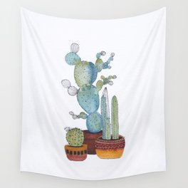 Potted cactus Wall Tapestry