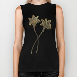Indian Lily Daffodil Biker Tank