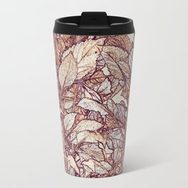 abstract camouflage leaves Travel Mug