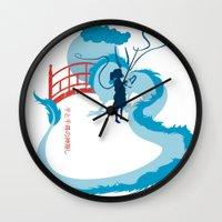 spirited away Wall Clocks featuring Spirited by IlonaHibernis