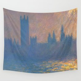 """Claude Monet """"The Houses of Parliament, Sunlight Effect"""" (1903) Wall Tapestry"""