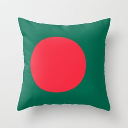 Flag of Bangladesh, Authentic color & scale Throw Pillow