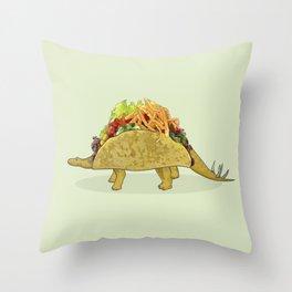Tacosaurus - Taco Stegosaurus Dinosaur Throw Pillow