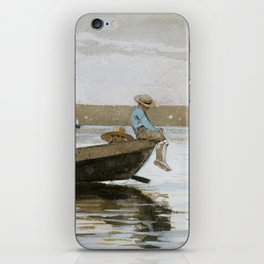 Boys in a Dory by Winslow Homer, 1873 iPhone Skin