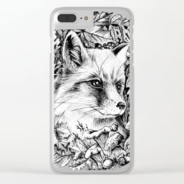 """Autumn fox. From the series """"Seasons"""" Clear iPhone Case"""