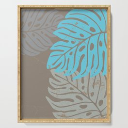Hawaiian leaves pattern N0 2, Art Print collection, illustration original pop art graphic print Serving Tray