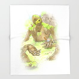 Castle Guardian Robot Throw Blanket