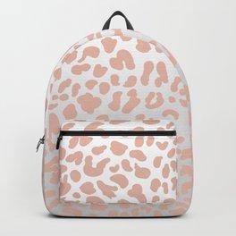 Rose Gold Leopard Spots Backpack