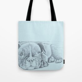 Sweet puppy blue Tote Bag