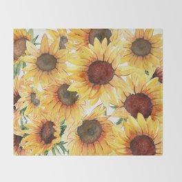Sunflowers Bloom  Throw Blanket