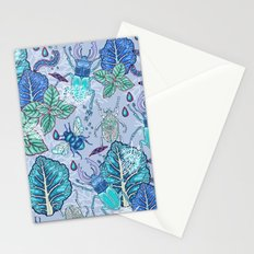 Frozen bugs in the garden Stationery Cards