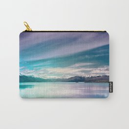 Peaceful Blue Lake Pukaki, New Zealand Carry-All Pouch