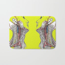 Dual anatomy Bath Mat