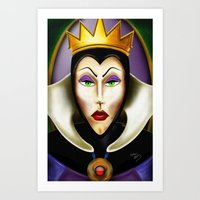 evil queen Art Prints featuring Evil by IMAFOOLISHMORTAL