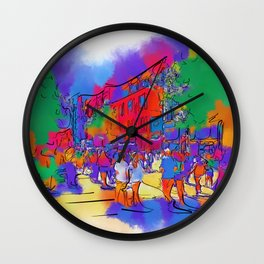 Street Scene In Soft Abstract Wall Clock