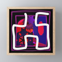 White Rope Framed Mini Art Print