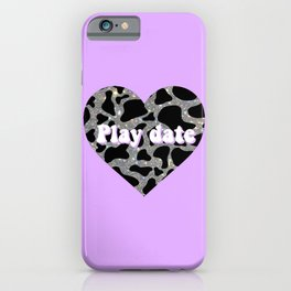 Sparkly cow play date  iPhone Case