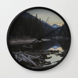 Sunrise at Lillooet Lake Wall Clock