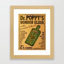 Vintage poster - Dr. Poppy's Wonder Elixir Framed Art Print