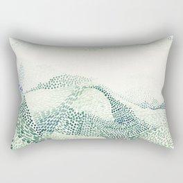 Meeting mountains Rectangular Pillow