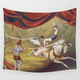 Banner Act - Vintage Circus Art, 1873 Wall Tapestry