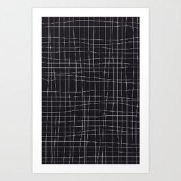 black GRID Art Print