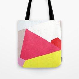 Geometric Abstract Angles: Pink Tote Bag