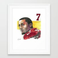 49ers Framed Art Prints featuring Colin Kaepernick-49ers by Anthonylanza