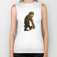 bigfoot Biker Tanks featuring Bigfoot by JoJo Seames