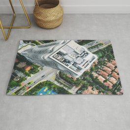 miami downtown aerial view Rug