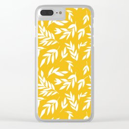 Flowers on honey yellow Clear iPhone Case
