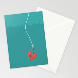 Fishing=Love Stationery Cards