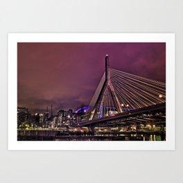Zakim bridge, Boston MA  Art Print