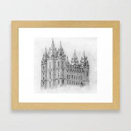 Salt Lake LDS Temple Framed Art Print