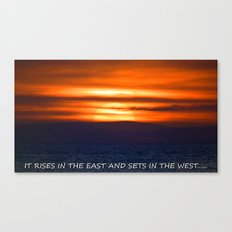 the setting of the sun. Canvas Print