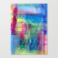 Rainbow smudged Canvas Print