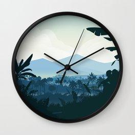 Honduras travel poster Wall Clock