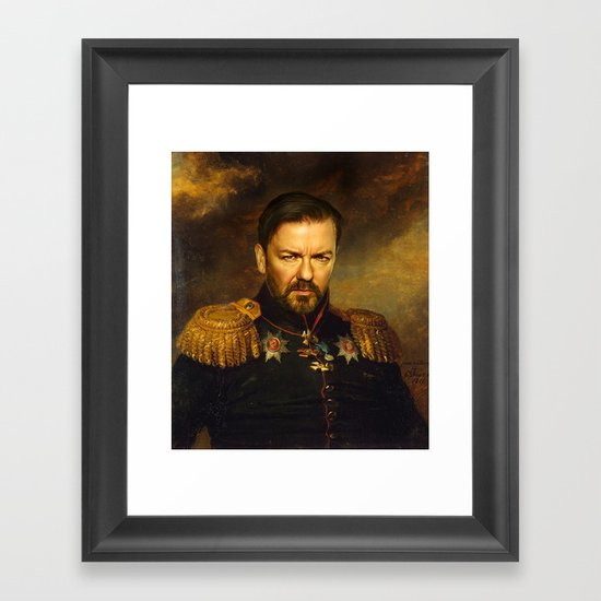 Ricky Gervais - replaceface Framed Art Print